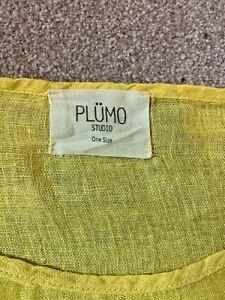Yellow, linen PLUMO top. One size.