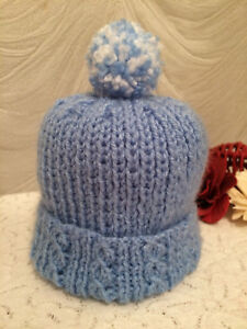 CABLE DETAIL BABY HAT - HAND KNIT IN ANY COLOUR