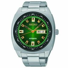 Seiko watch Analog Green Dial Automatic Silver Toned Steel ReCraft SNKM97
