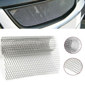 Aluminum Car Auto Front Hood Vent Grille Net Mesh Grill Section Cover Universal