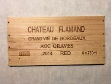 1 Rare Wine Wood Panel Chateau Flamand Bordeaux Vintage Crate Box Side 8/18 828