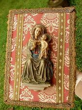 1958 Vintage Anri Toriart Synthetic Resin Madonna & Baby Jesus Wall Mount Shrine