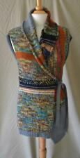 Dries van Noten Gray Multicolor Sleeveless Sweater Size Small