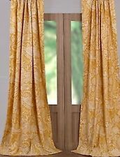 Beautiful Yellow Pottery Barn Alessandra Lined Curtain Panels. Excellent Cond!