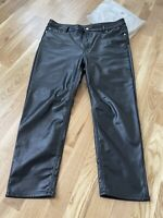 Divided Faux Leather Trousers Size 18