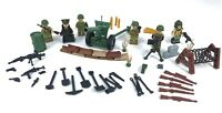 WW2 Custom American GI Army Platoon Soldiers Toy Minifgures Set & Weapons Set