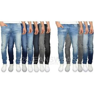Duck & Cover Men's Slim Fit Stretch Faded Distressed / Abraised Jeans