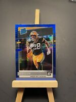 AJ DILLON 2020 Donruss Optic RATED ROOKIE blue scope PRIZM RC Packers #174