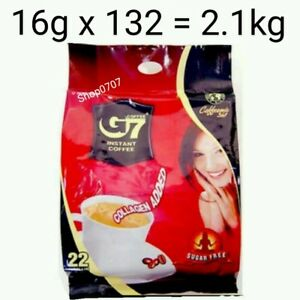 132 x16g Vietnam Trung Nguyen G7 Instant Coffee 3 in 1 COLLAGEN ADDED SUGAR FREE