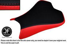DESIGN 2 BLACK & RED VINYL CUSTOM FOR KAWASAKI NINJA ZX6R 636 09-15 SEAT COVER