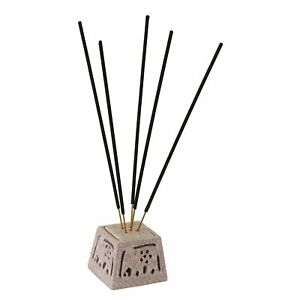 Hand Carved Soapstone Marble Incense Holder With Tea Light Holder for Home Decor