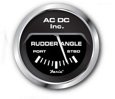 Faria Rudder Angle Gauge Black (white available!)