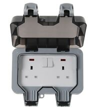 BG Weatherproof Outdoor 13A 2 Gang Twin Switched Double Socket IP66 Outside WP22
