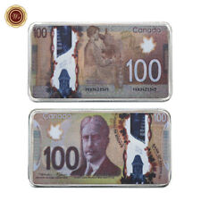 WR 2011 Canada $100 Dollars Bill Mint 999 Silver Art Bar Collection Office Gifts