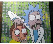 Psychedelic Blotter Art Print perforated sheet/paper 15x15 - Rick and Morty