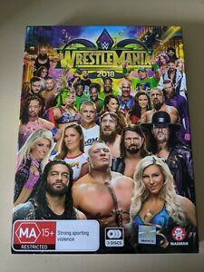 WWE Wrestlemania 2018 - Genuine Region 4 DVD Undertaker John Cena