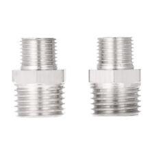 """2pcs Airbrush Air Hose Adaptor G1/8""""&G1/4""""BSP Male Air Brush Mini Air Compressor"""