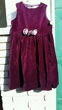 Gymboree velvet jumper dress Xmas purple rosette empire waist sz.XX-Large 6/7yrs