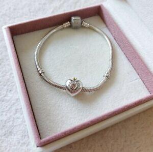 Charm Herz bicolor für Pandoraarmband, S925 gestempelt