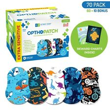 Infants Extra Sensitive Adhesive Eye Patch Boys 70 Pack Series II OPTHOPATCH