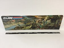 custom gi joe backdrop and name sticker to fit vintage star wars grey stand