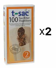 Harold T-Sac Disposable Tea Filter Infuser, Box of 100, 2-4 Cup Bags (2-Pack)