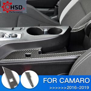 Carbon Fiber Interior Trim Armrest Box Panel For Chevrolet Camaro 2016 - 2019