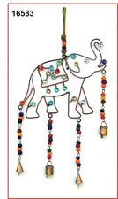 Elephant Windchime with Glass Beads and Bells Ethical Trade from Jaipur India