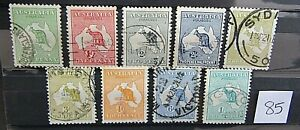 AUSTRALIA - COLLECTION OF ORIGINAL 1913/14 KANGEROO ISSUES TO 1/ - WMK 2