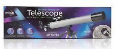 World of Gadgets Kids Refractor Telescope 50x /100x Astrology Star Gazing NEW