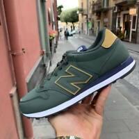 New Balance 500 Scarpe Sneakers Sportive Casual pelle Verde blu oro inverno 2019