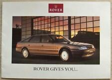ROVER 800 SERIES Car Phone or British Breaks Offer Sales Brochure 1989