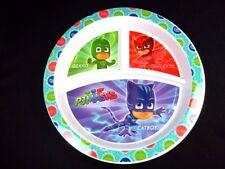 PJ Masks 3 part divided hard plastic plate Cat Boy Gekko Owlette by NUK NEW