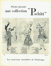 Publicité Advertising 097  1954  Perrier collection Printemps Pschitt  Chevalier