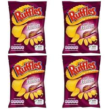 Ruffles 4 X 170 gr   ( 12 oz ) Potato Chips SPANISH SERRANO HAM TASTE 2 bag pack