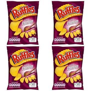 Ruffles 4 X 160 gr Potato Chips SPANISH SERRANO HAM TASTE