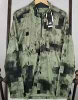 NEW Adidas Climacool Size XL Golf Windbreaker Jacket Mens Camo 1/4 Zip NWT
