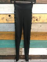 NEW Planet Blue life fit Tied Up Legging Black Womens Size Small