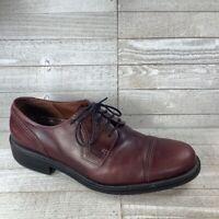 Ecco Mens Oxford Dress Shoes Brown Lace Up Cap Toe Leather 11-11.5 EUR 45