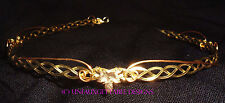DELICATE LEAVES FANTASY CELTIC CIRCLET GOLD PLATED METAL ALTERNATIVE TO TIARA