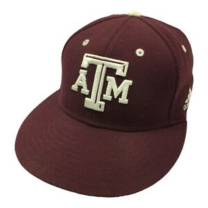 Adidas Climalite Texas A&M Mens Fitted Hat 7 1/8 University Logo Cap