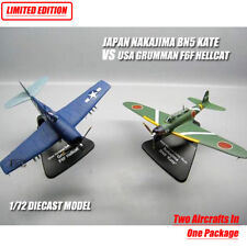 JAPAN NAKAJIMA BN5 KATE VS USA GRUMMAN F6F HELLCAT 1/72 plane model aircraft