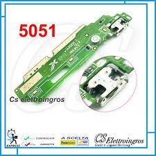 ALCATEL POP 4 5.0 5051 MODULO FLEX DOCK CONNETTORE DI RICARICA + MICROFONO