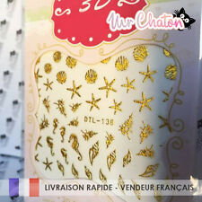 Nail Art - Mermaid Sirène Océan - Ongles Stickers Déco
