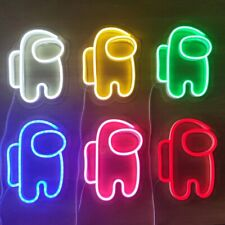"""""""Astronaut Among Us"""" Night Game Room Hanging Lamp Wall Décor LED Neon Light Sign"""