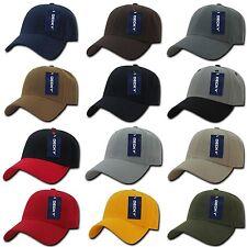 Decky Plain Solid Blank Low Crown Adjustable 6 Panel Baseball Golf Ball Hat Cap
