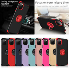 For iPhone 11 Pro Max XR XS 6 7 8 Plus Magnetic Ring Holder Soft TPU Case Cover