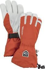 2020 Men's Hestra Army Leather Heli  5 Finger Ski Gloves Size 11 Brick Red 30570