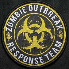 ZOMBIE HUNTER OUTBREAK RESPONSE TEAM THE WALKING DEAD TOXIC ORANGE VELCRO PATCH