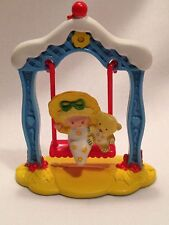 Vintage Strawberry Shortcake Baby Butter Cookie & Jelly Bear On A Swing Figure